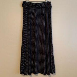 Robert Louis polka dot print stretch maxi skirt